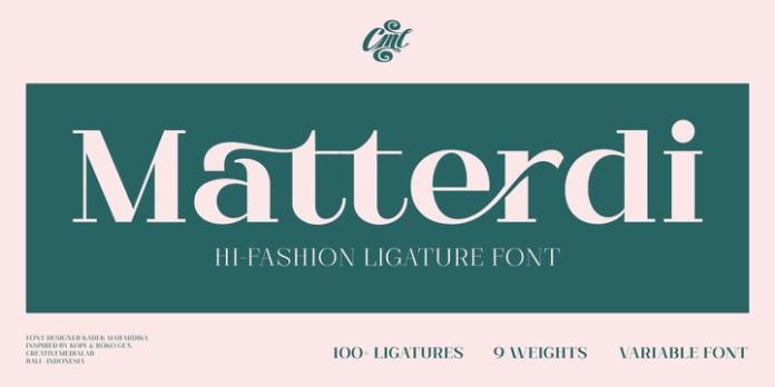 Matterdi Font Family