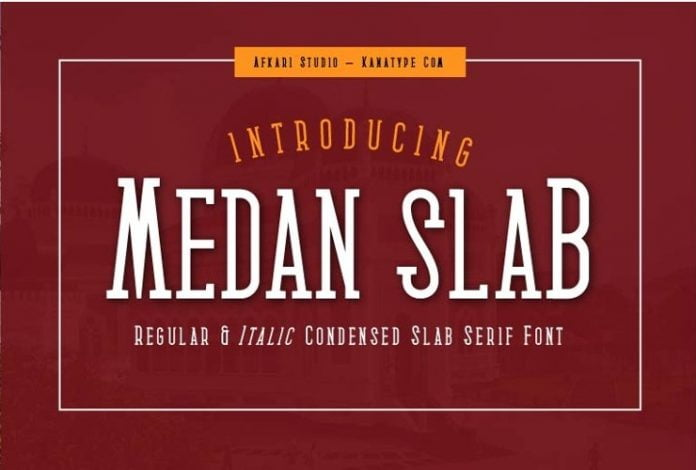 Medan Slab - Condensed Slab Serif Font