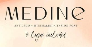 Medine - Art Deco, Stylish and Fashion Font