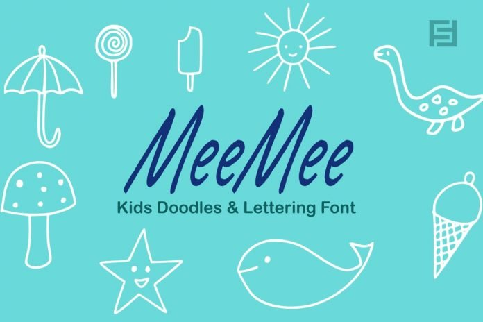 MeeMee Kids Doodles Icons & Lettering Font