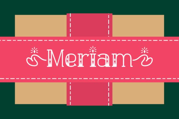 Meriam Font