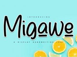 Migawe Display Handwriting Font