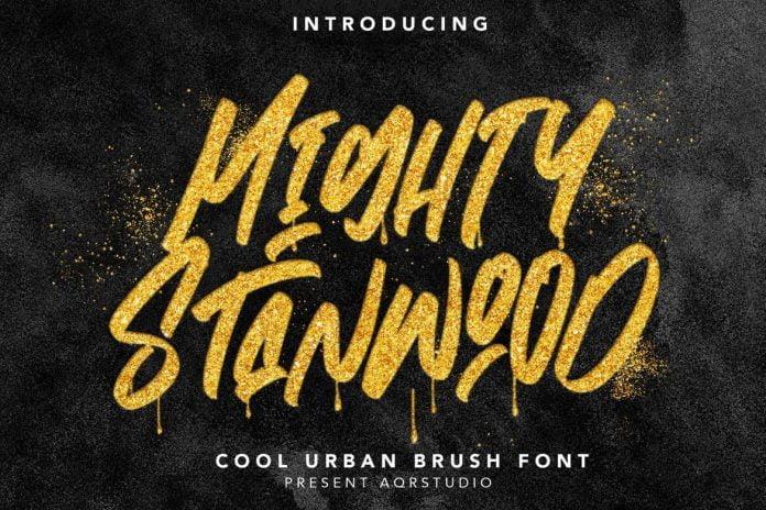 MightyStanwood - Urban Brush Font