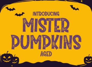 Mister Pumpkins Aged Font