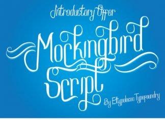 Mockingbird Script Font