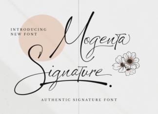 Mogenta Signature Font