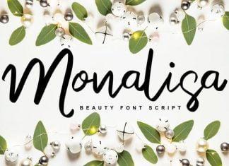 Monalisa Beauty Script Handwritten