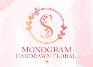 Monogram Handrawn Floral Font