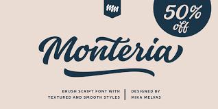 Monteria Regular Font
