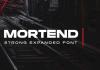 Mortend - Extended font family
