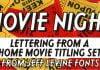 Movie Night JNL Font