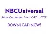 NBC Universal Corporate Fonts
