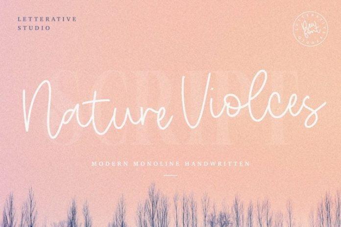 Nature Violces Script Font