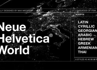 Neue Helvetica World - Complete Family 6 Styles Font
