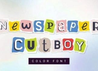 Newspaper cutboy font