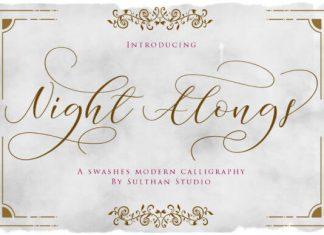 Night Alongs Script Font