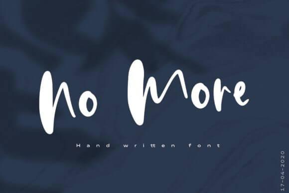 No More Font
