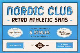 Nordic Club - Retro Athletic Sans Serif Font