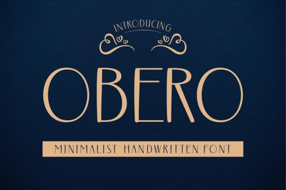 Obero Font