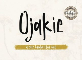 Ojakie - Cute Display Font