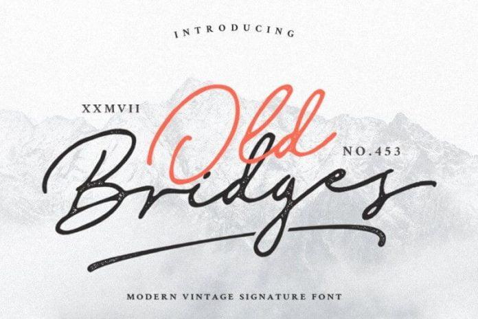 Old Bridges Signature Font