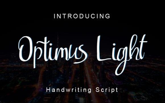 Optimus Light Font