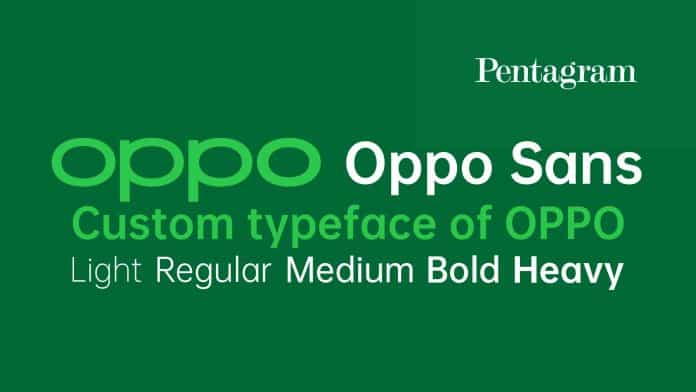 Oppo Sans typeface Font