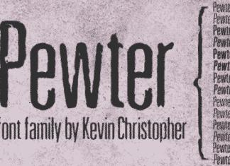 Pewter Font