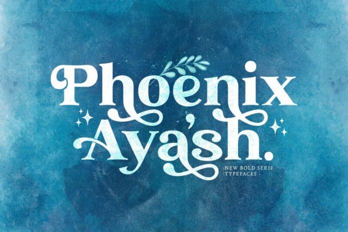 Phoenix Ayash - Bold Serif Font