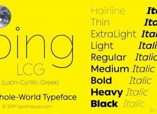 Ping LCG Font