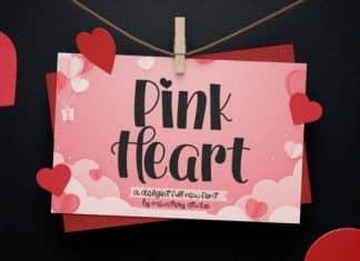 Pink Heart Font