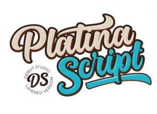 Platina Script - Layered Font