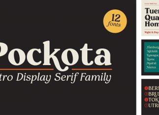 Pockota   Retro Display Serif Family Font