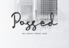 Possed - The Movie Script Font