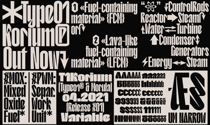 T1 Korium Font
