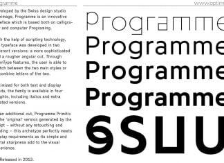 Programme Font