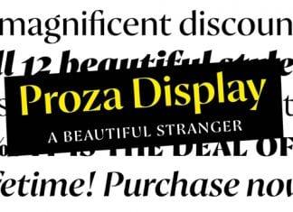 Proza Display Font Family