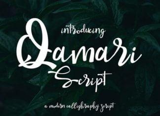 Qamari Script Font