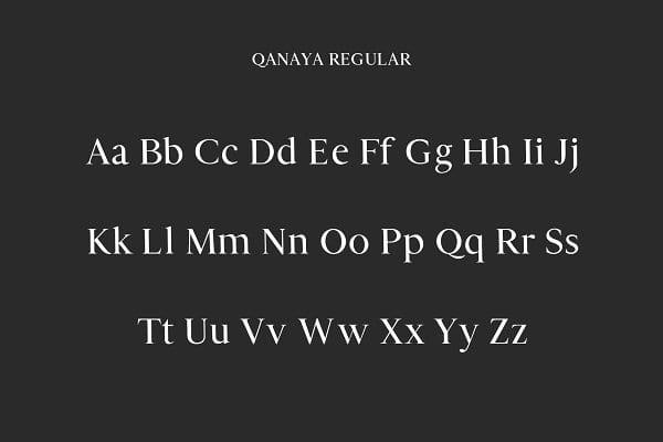 Qanaya Serif Font