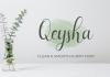 Qeysha Script Font