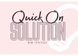 Quick on & Solution Font