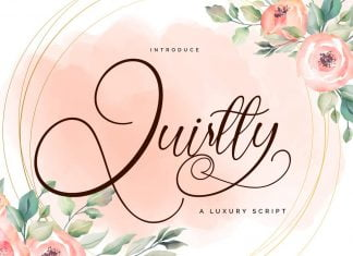 Quirtty | A Luxury Script Font