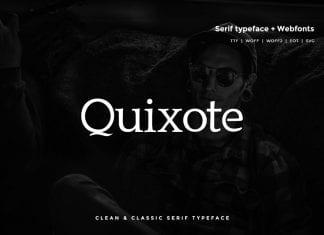 Quixote Classic Serif Typeface WebFont