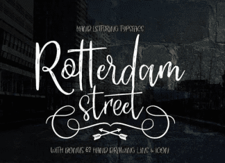 ROTTERDAM STREET - handlettered