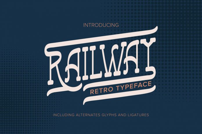 Railway Retro Typeface