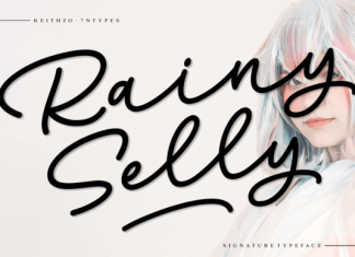 Rainy Selly Font
