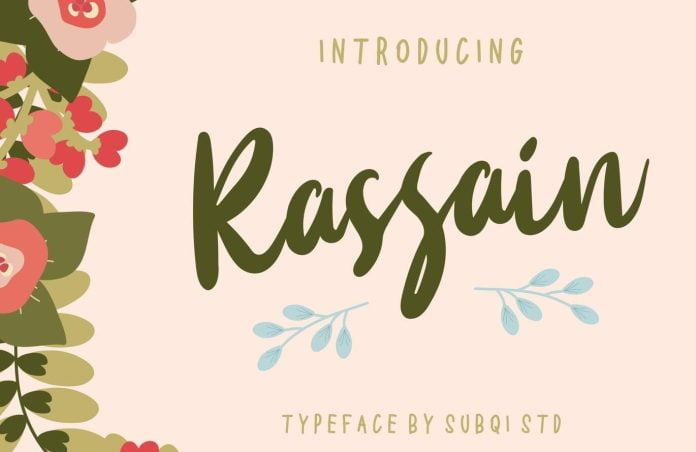 Rassain Typeface Font