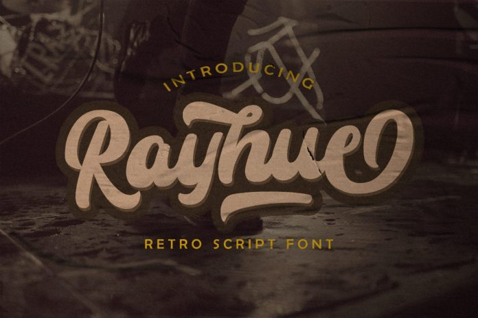 Rayhue - Retro Bold Script Font