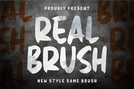 Real Brush Handbrush Font