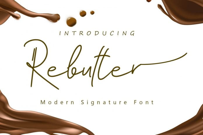 Rebutter - Fashionable Signature Font